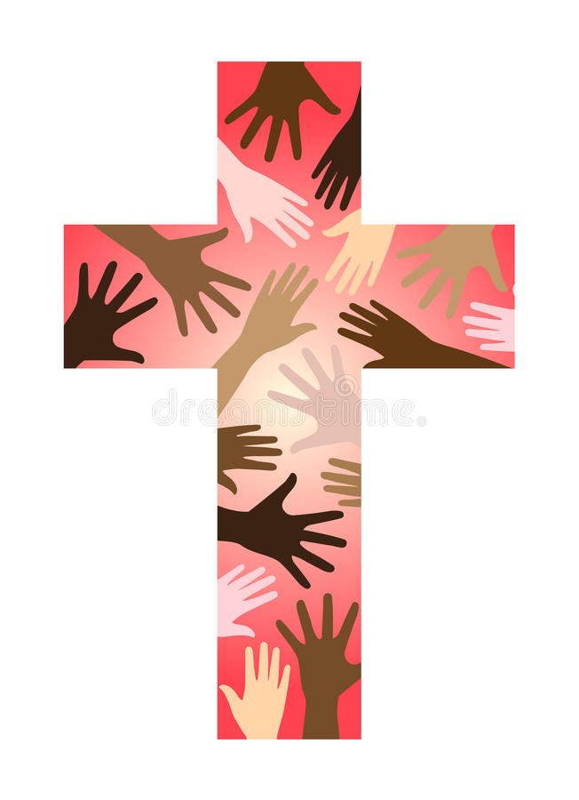 Cruz cristã da unidade ilustração do vetor