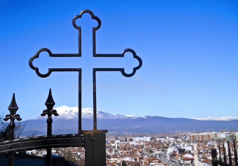 Cruz cristiana ortodoxa fotos de archivo