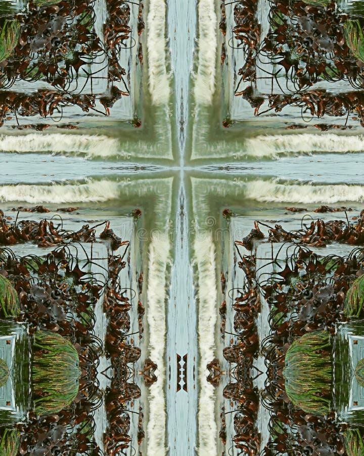 Cruz da baixa maré foto de stock