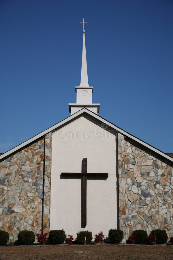 Cruz da igreja fotografia de stock