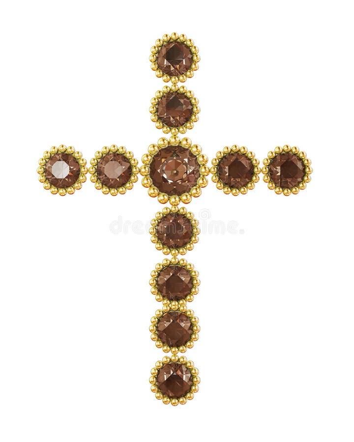 Cruz da joia ilustração do vetor