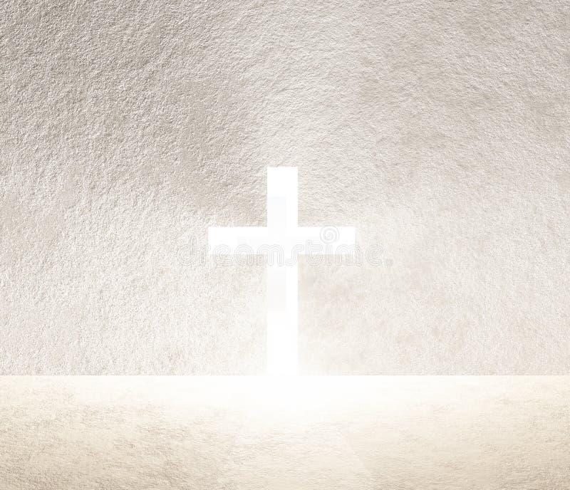 Cruz da luz ilustração stock