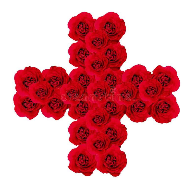 Cruz das rosas ilustração do vetor