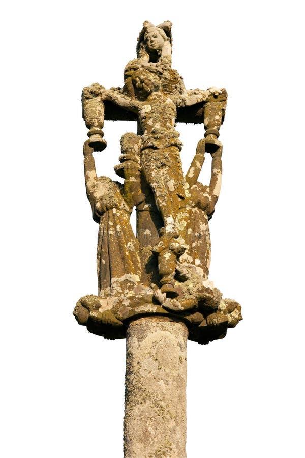 Cruz de Calvary isolada fotografia de stock royalty free