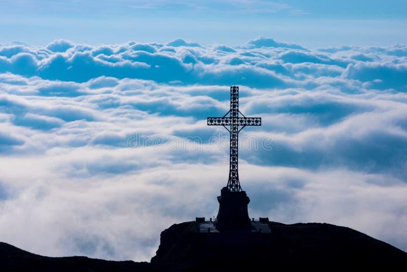 Cruz de Caraiman fotografía de archivo libre de regalías
