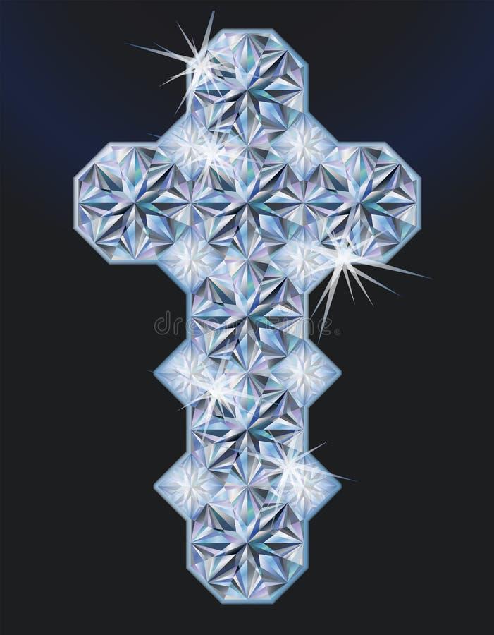Cruz de Diamond Easter, vector ilustración del vector