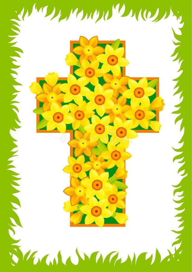 Cruz de Easter ilustração royalty free