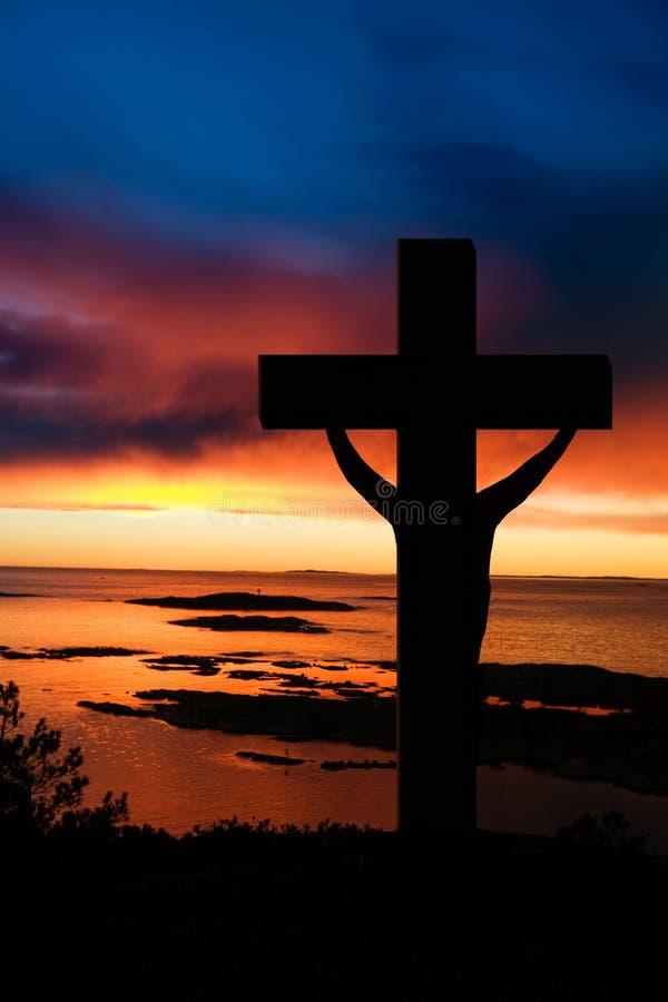 Cruz de Easter foto de stock royalty free
