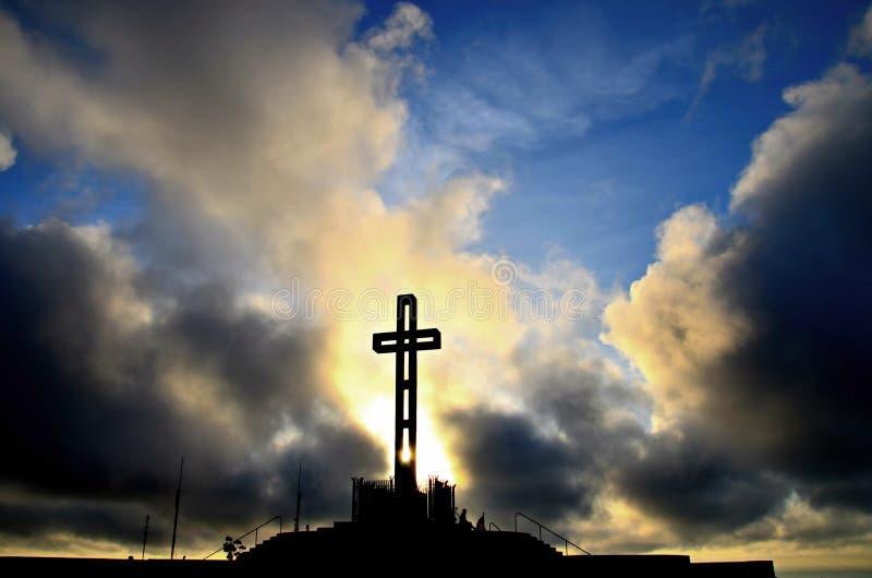 Cruz de Easter imagem de stock