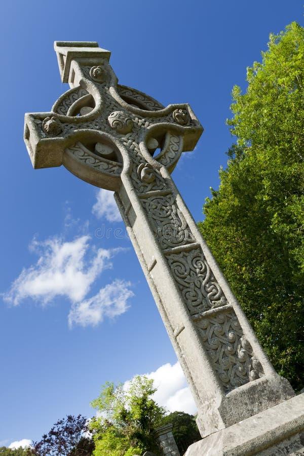 Cruz de Glendalough, Irlanda fotografía de archivo