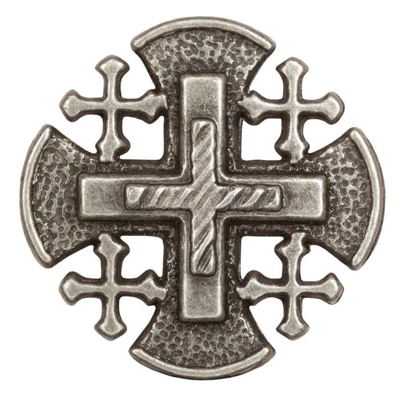 Cruz de Jerusalén imágenes de archivo libres de regalías