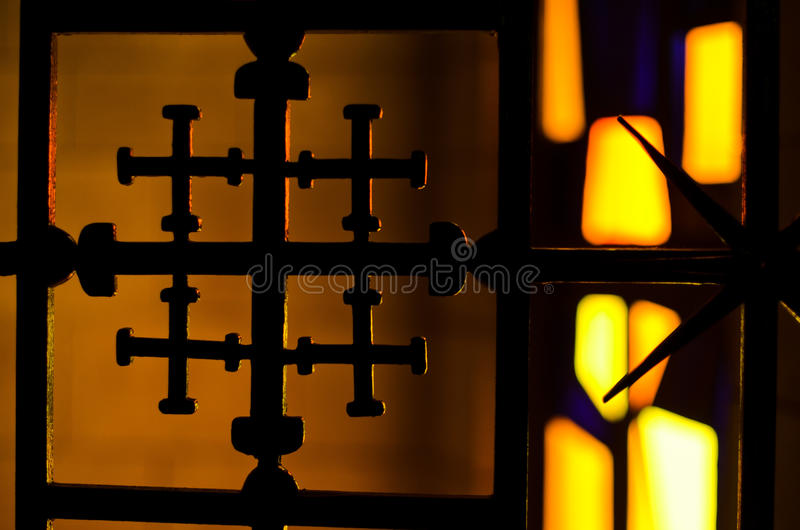 Cruz de Jerusalem imagem de stock royalty free