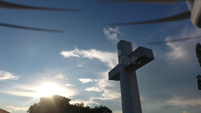 Cruz de la capilla del pueblo de Park Place, metro Manila, Filipinas del pasig CIT y fotos de archivo