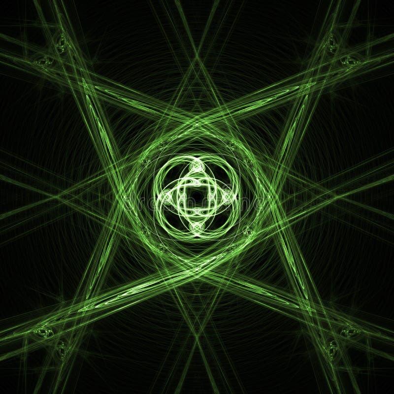 Cruz de la estrella stock de ilustración