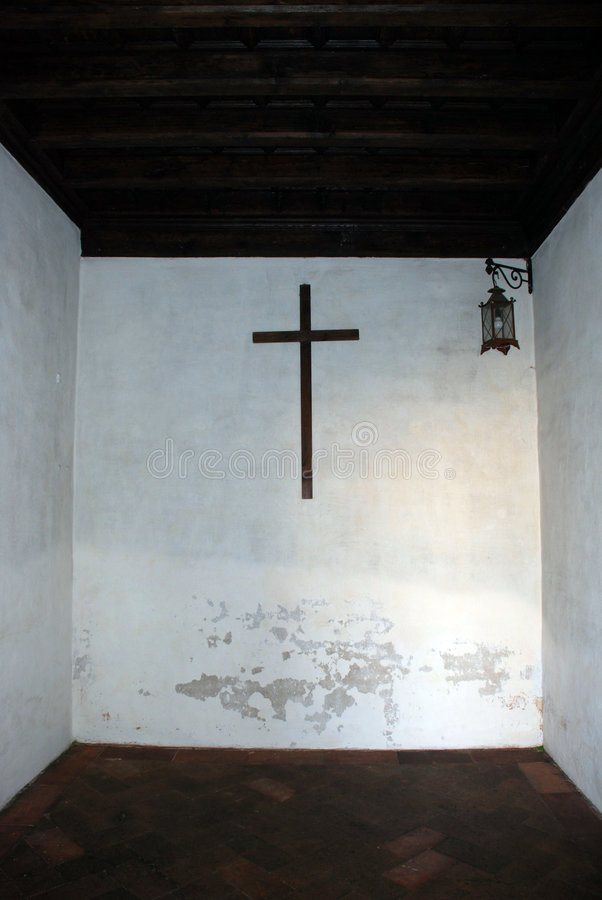 Cruz de la pizca de la célula del monje fotos de archivo libres de regalías