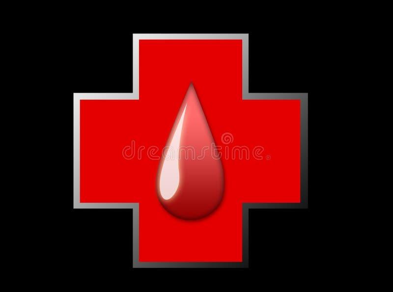 Cruz de la sangre stock de ilustración