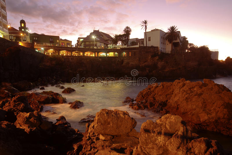 cruz De Los angeles Puerto Tenerife obraz stock