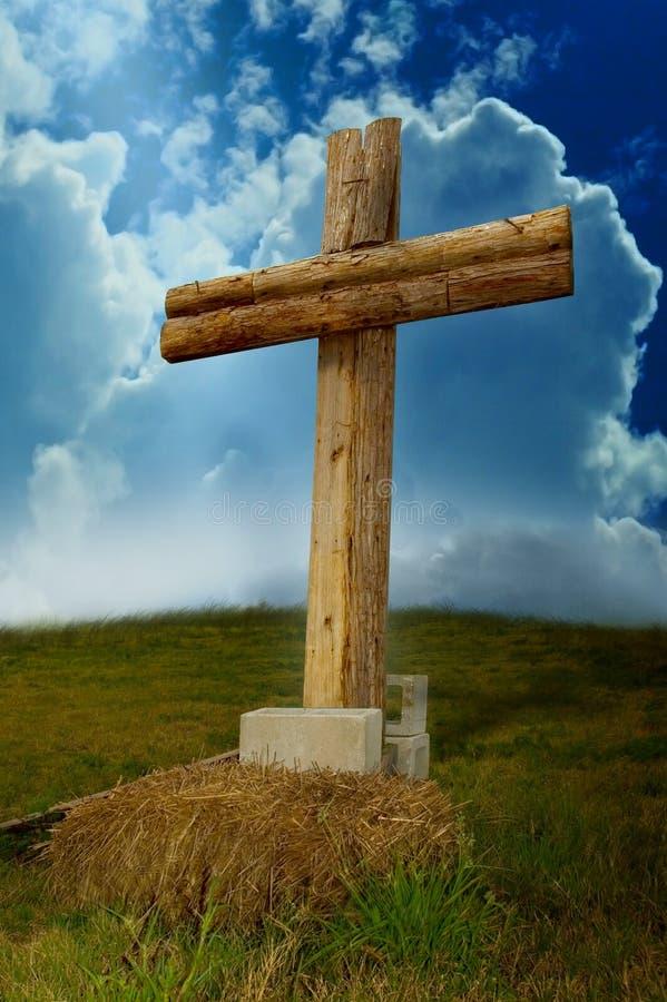 Cruz de madeira imagem de stock royalty free