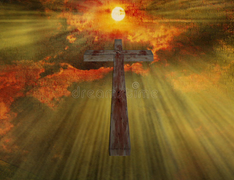 Cruz de madeira ilustração do vetor