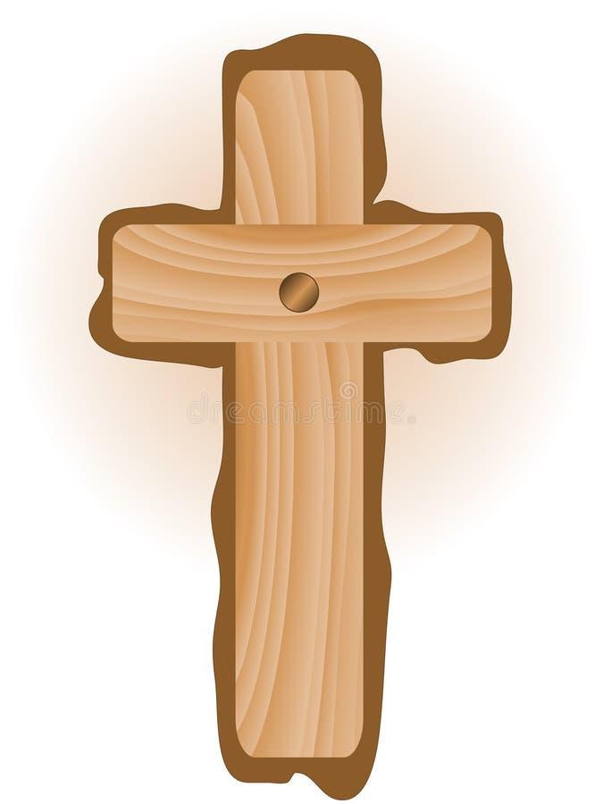 Cruz de madera stock de ilustración