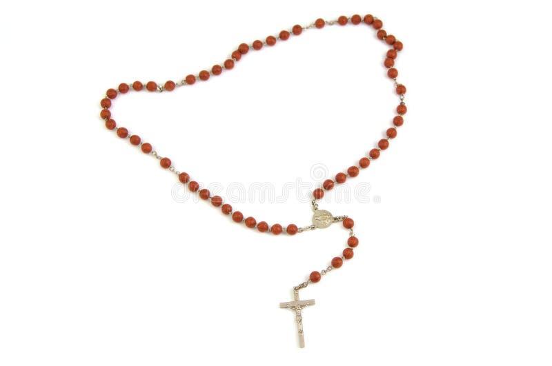 Cruz de madera del rosario y del metal con levemente foto de archivo
