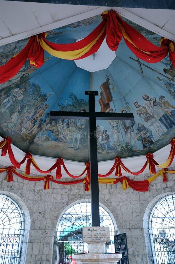 Cruz de Magellan, cidade de Cebu, Filipinas foto de stock