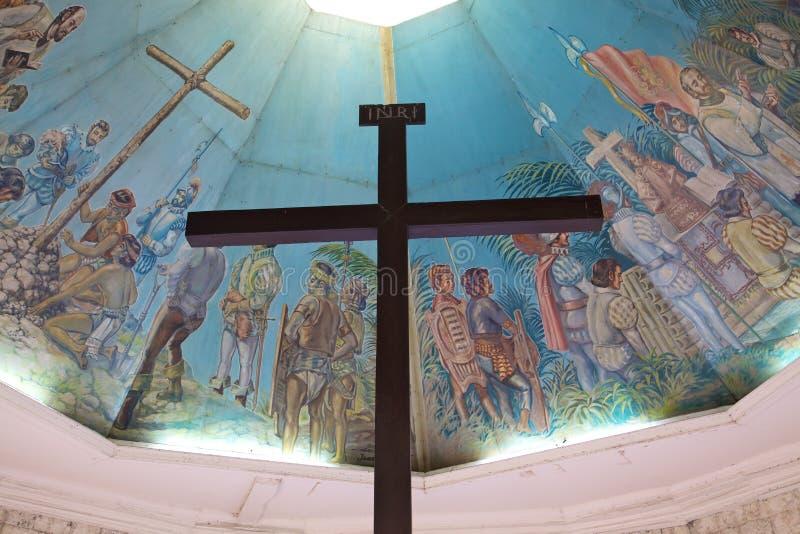A cruz de Magellan em Cebu, Filipinas fotos de stock