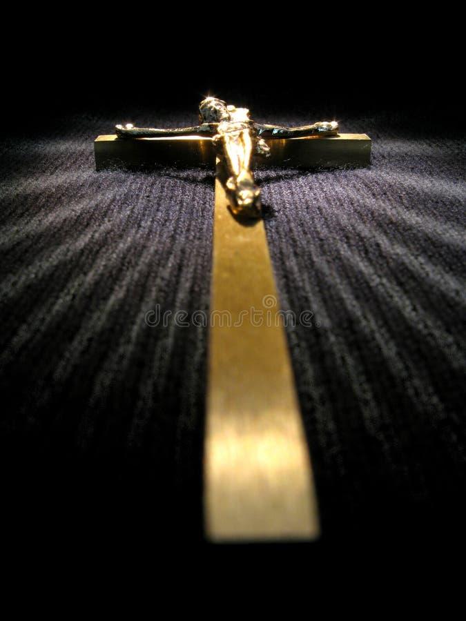 Cruz de oro foto de archivo libre de regalías