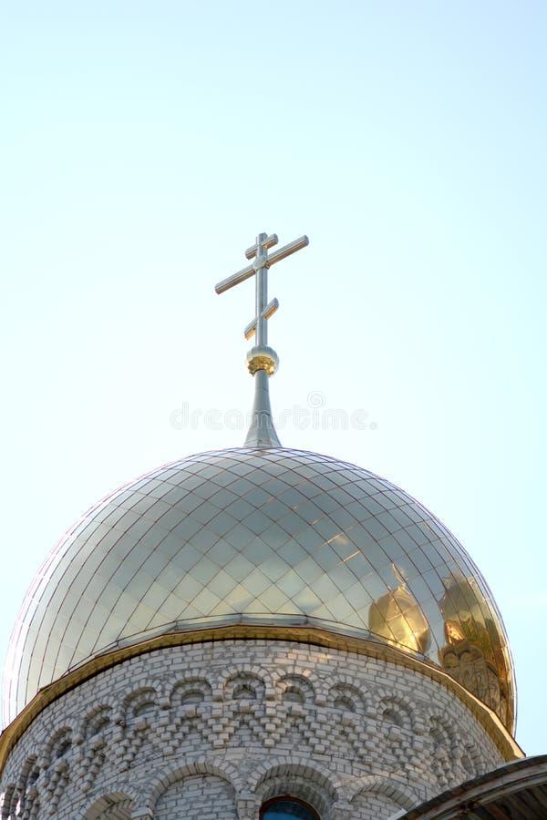 Download Cruz De Oro De La Cúpula Y Del Cristiano En Iglesia Foto de archivo - Imagen de bóveda, rusia: 44856536