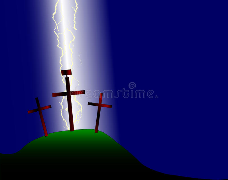 Cruz de Pascua ilustración del vector