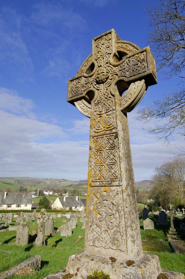Cruz de pedra celta imagem de stock royalty free