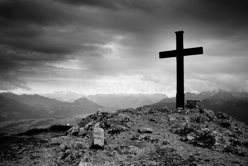 Cruz de Untersberg imagem de stock royalty free