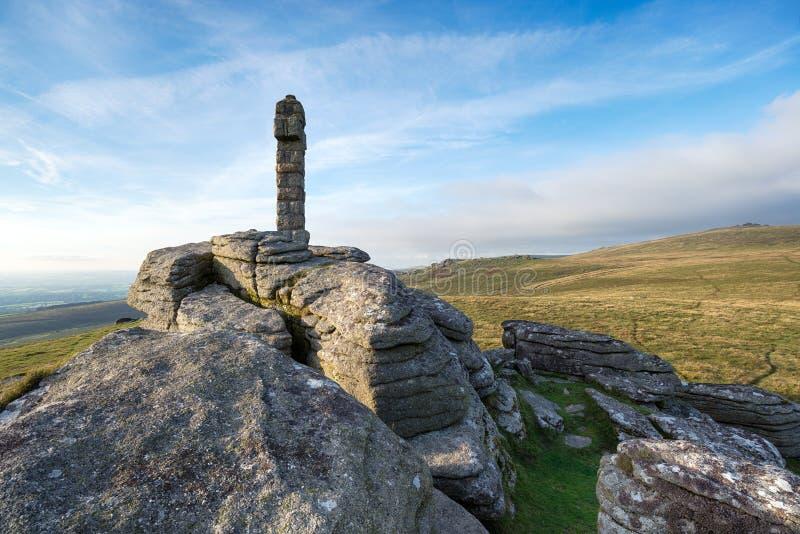 Cruz de Widgery em Dartmoor imagens de stock