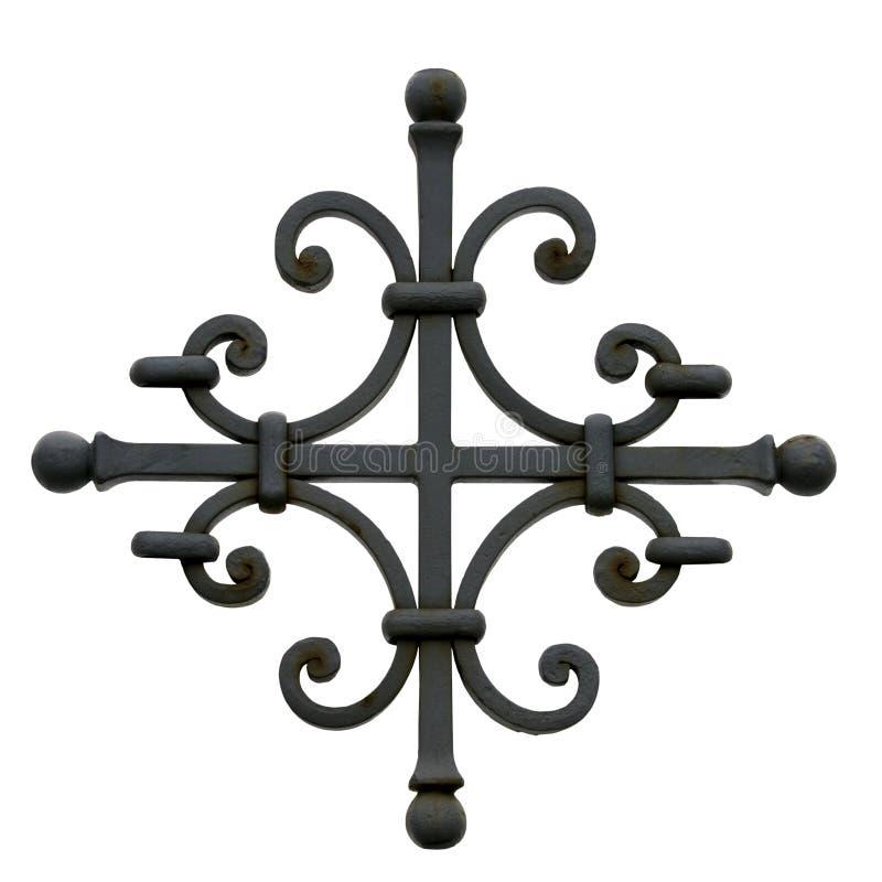 Cruz decorativa del metal fotografía de archivo libre de regalías