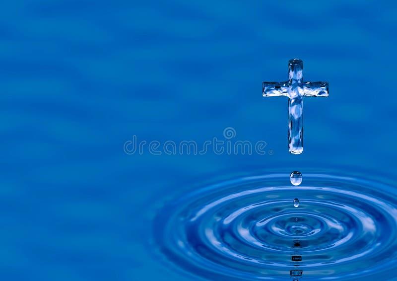 Cruz del agua santa stock de ilustración