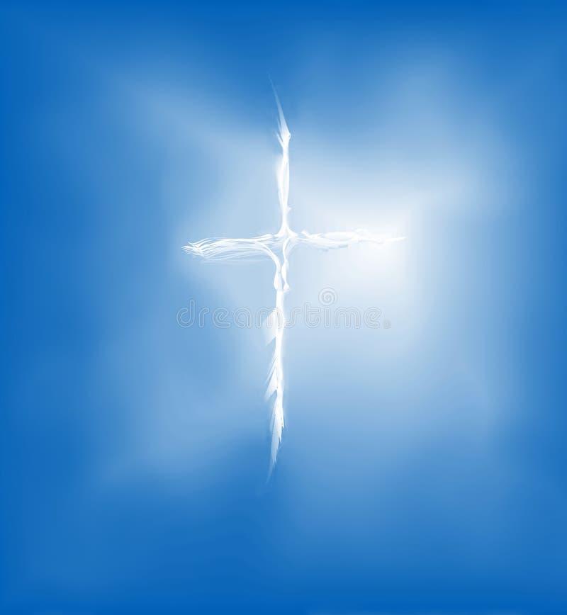 Cruz del alcohol en el cielo stock de ilustración