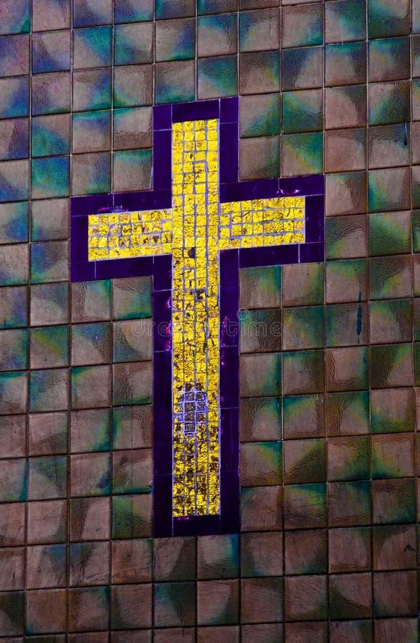 Cruz del azulejo fotos de archivo