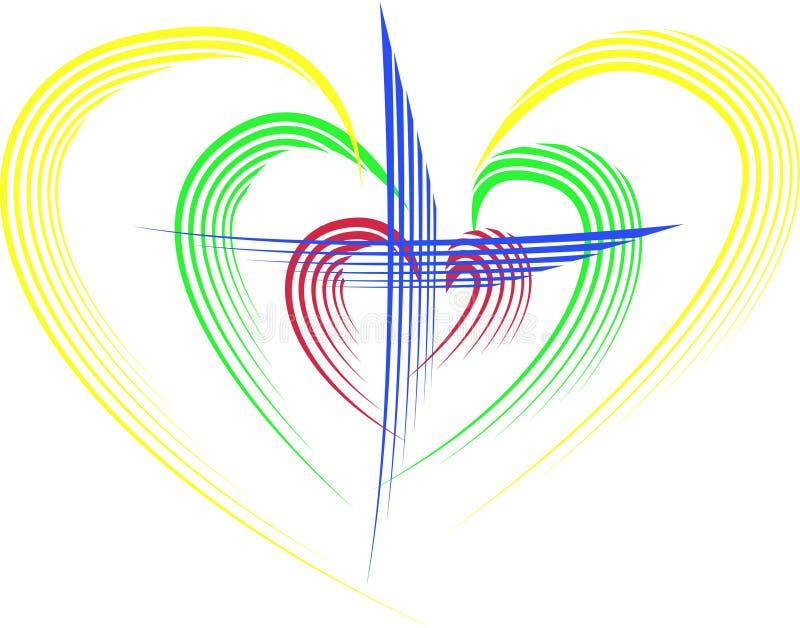 Cruz del color stock de ilustración