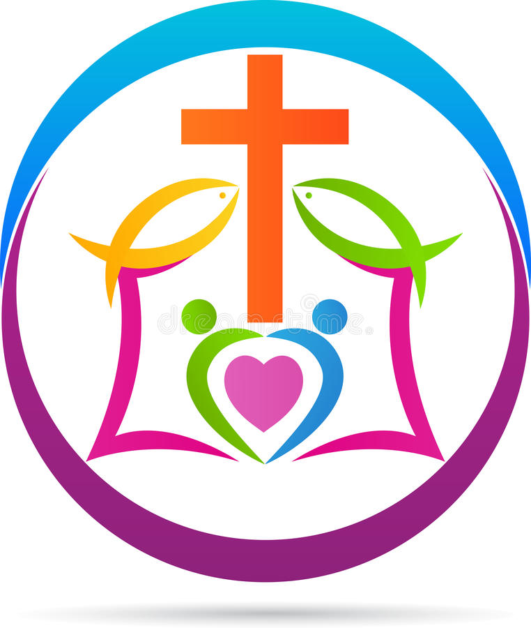 Cruz del cristianismo stock de ilustración