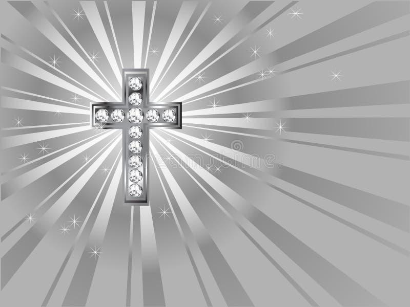 Cruz del diamante ilustración del vector