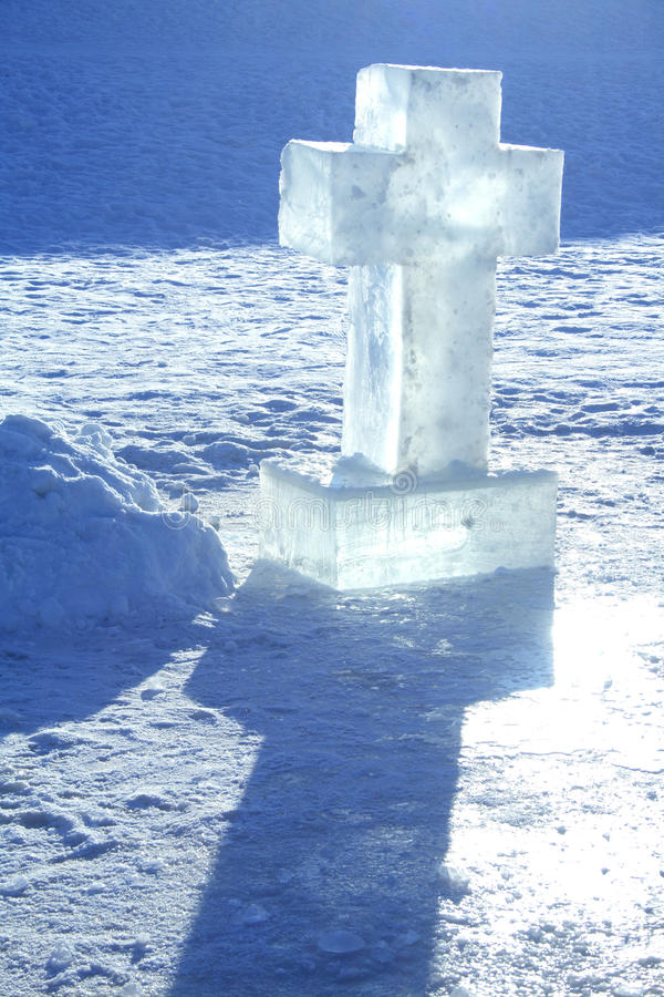 Cruz del hielo imagen de archivo