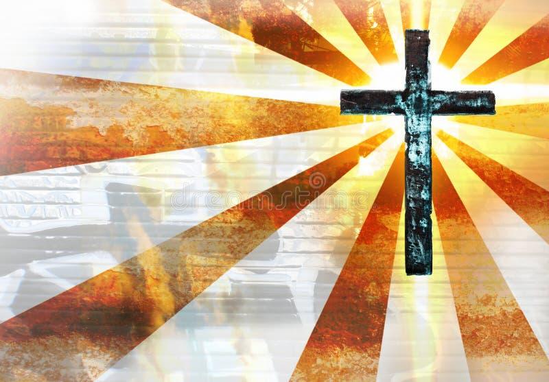 Cruz del metal de Grunge libre illustration