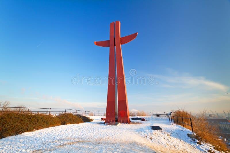 Cruz Del Milenio En Gdansk Imagen de archivo libre de regalías