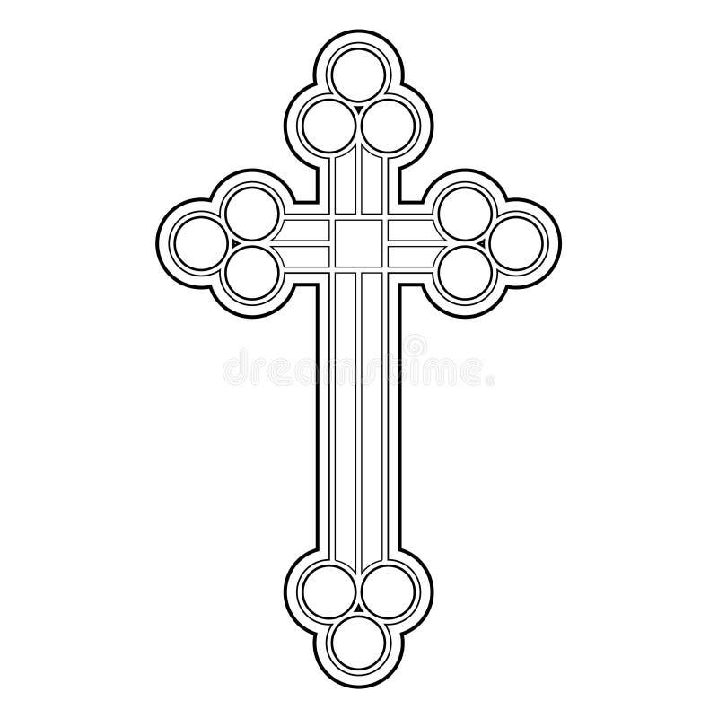Cruz del vector stock de ilustración