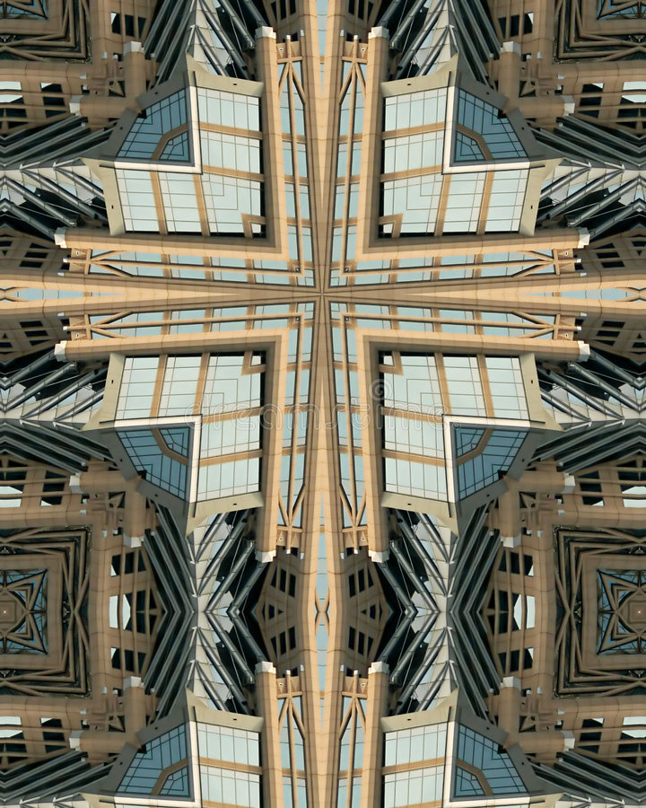 Cruz do caleidoscópio: Hearst Tower2 foto de stock royalty free