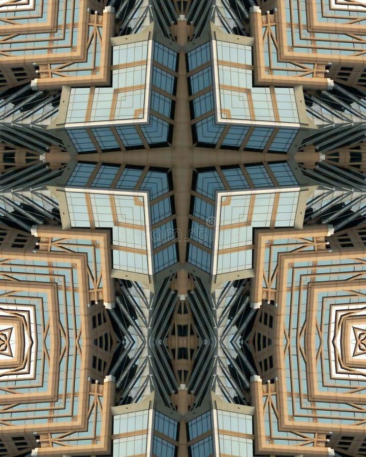Cruz do caleidoscópio: Torre de Hearst fotografia de stock