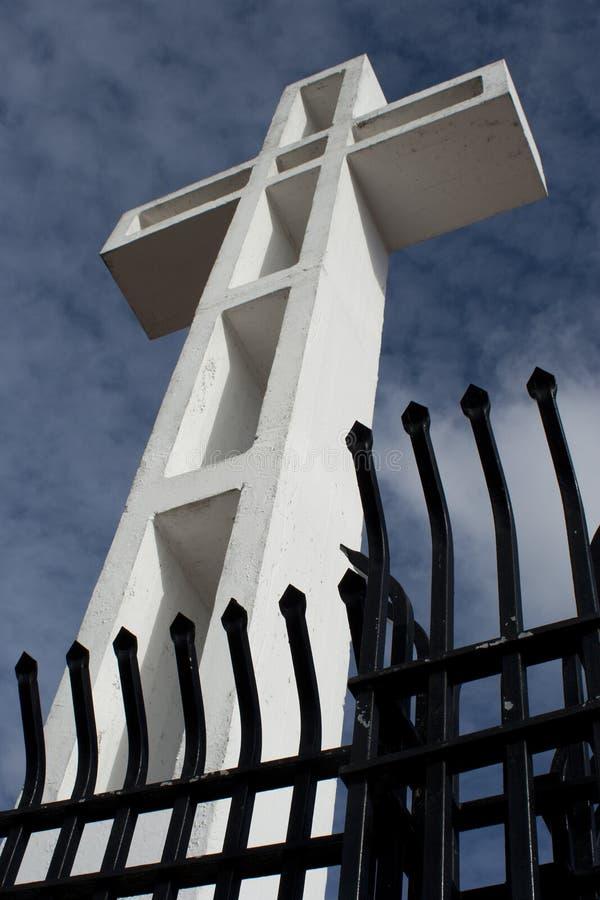 Cruz 1 do Mt Soleada foto de stock