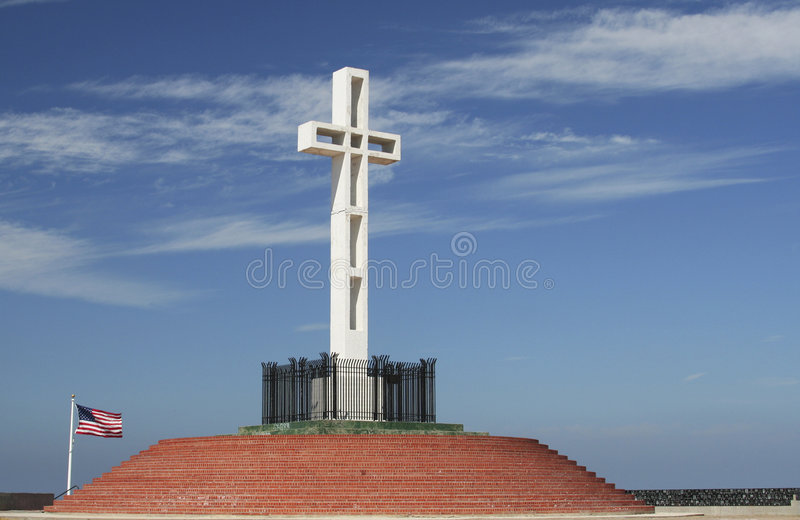 Cruz do Mt Soledad fotos de stock