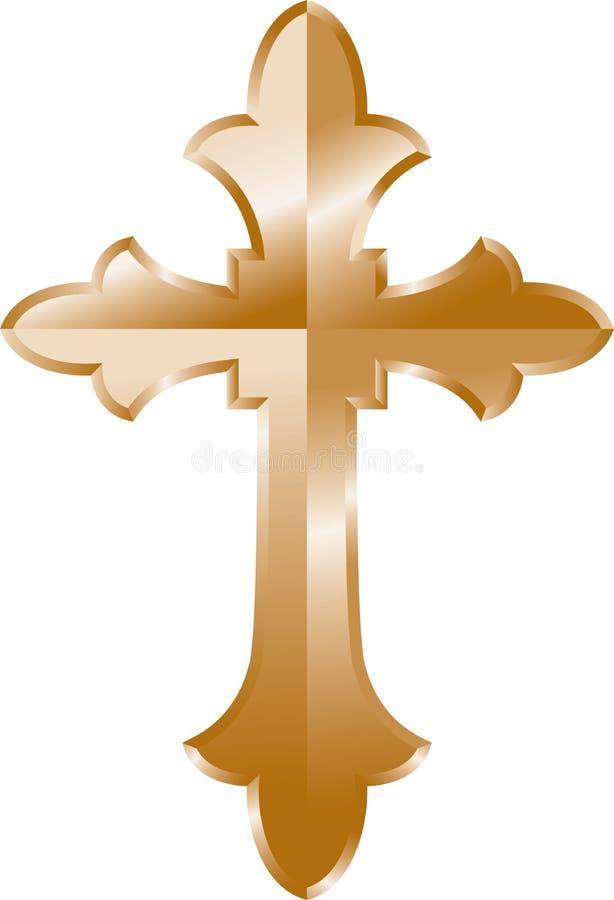 Cruz do ouro ilustração stock
