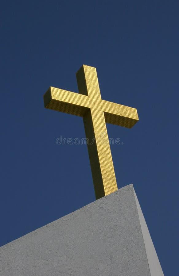 Cruz do ouro fotos de stock royalty free